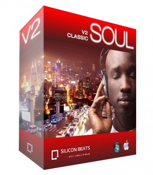 Product Box - Classic Soul Drum Loops as WAV files, Rex2 and Apple Loops.